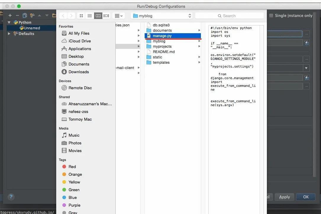 How to configure Django and Tornado in PyCharm Community